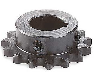"#40 CHAIN SPROCKET 1"" KEYED X 12 TOOTH BLACK STEEL"