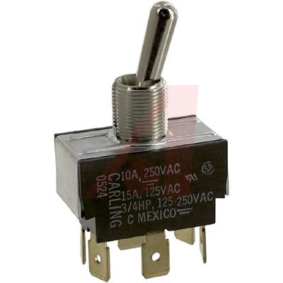 DPDT TOGGLE SWITCH 15a @ 125VAC <br>
