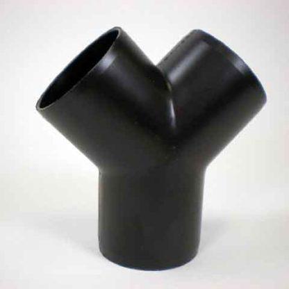3 WAY Y PVC BLACK OUTLET<br>