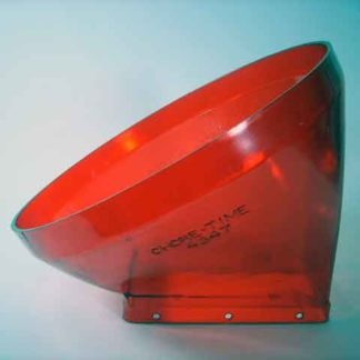 PLASTIC TRANSITION BIN TO BOOT TRANSLUCENT RED 30°