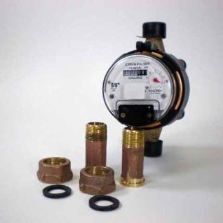 BRONZE PULSE WATER METER 3/4""