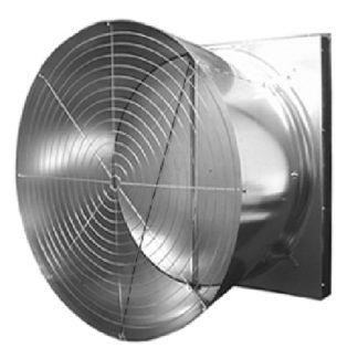 "52"" BELT DRIVE GALVANIZED FAN W/ HYFLO SHUTTER 3PH-60HZ HI-CFM"