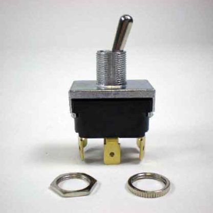 "DPDT TOGGLE SWITCH 15A @ 125VAC 10A @ 250VAC .25"" SPADE TERMINAL<br>"