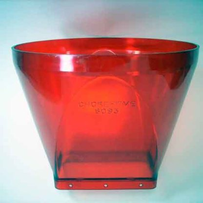 PLASTIC TRANSITION BIN TO BOOT TRANSLUCENT RED STRAIGHT OUT