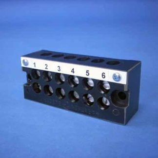 TERMINAL BLOCK 6 POLE 18-6 AWG 600 V 65 A<br>