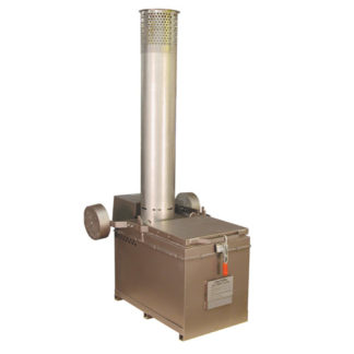 "A200-1G INCINERATOR SINGLE LP GAS BURNER 115V 650HZ 200LBS CAPACITY<br>AUTOMATIC IGNITION<br>12"" X 5 FT STAINLESS STACK"