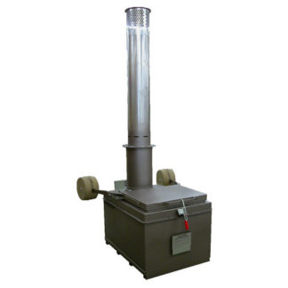 "A400  INCINERATOR SINGLE  NAT GAS BURNER 115V 60HZ 400 LBS. CAPACITY<br>AUTOMATIC IGNITION<br>14"" X 5 FT. STAINLESS STACK WITH CAP"