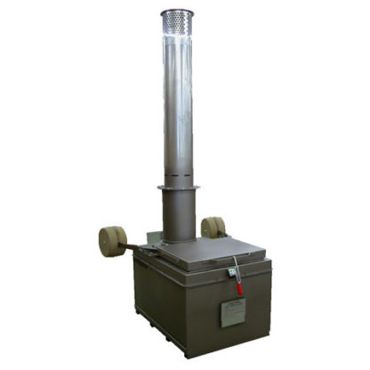 "A400  INCINERATOR SINGLE  LP GAS BURNER 115V 60HZ 400 LBS. CAPACITY<br>AUTOMATIC IGNITION<br>14"" X 5 FT. STAINLESS STACK WITH CAP"