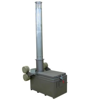 "A600  INCINERATOR SINGLE  OIL BURNER 115V 60HZ 600 LBS. CAPACITY<br>AUTOMATIC IGNITION<br>14"" X 5 FT. STAINLESS STACK WITH CAP"