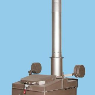 "A850  INCINERATOR SINGLE OIL FIRED BURNER 115V 60HZ 850 LBS. CAPACITY<br>AUTOMATIC IGNITION<br>14"" X 2 FT. REFRACTORY LINED STACK<br>12"" X 5 FT. STAINLESS STACK WITH CAP"