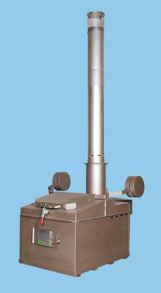 "A850  INCINERATOR SINGLE  LP FIRED BURNER 115V 60HZ 850 LBS. CAPACITY<br>AUTOMATIC IGNITION<br>14"" X 2 FT. REFRACTORY LINED STACK<br>12"" X 5 FT. STAINLESS STACK WITH CAP"