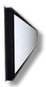 "AEROBAFFLE SIDEWALL CENTER INLET WHITE PVC BLACK FRAME 8"" X 96"""