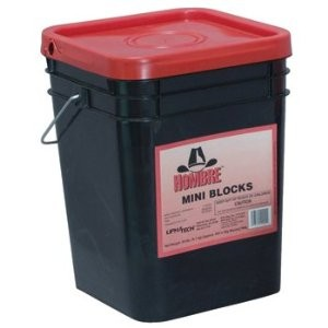 HOMBRE RAT BAIT MINI BLOCKS 20LBS PAIL {DIFETHIALONE}