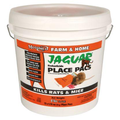 RAT BAIT JAGUAR 8LBS PLACE PACKS 73 PACKS 50G {BRODIFACOUM}