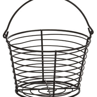 "EGG BASKET LARGE PLASTIC COATED WIRE 13"" X 13"" X 6"""