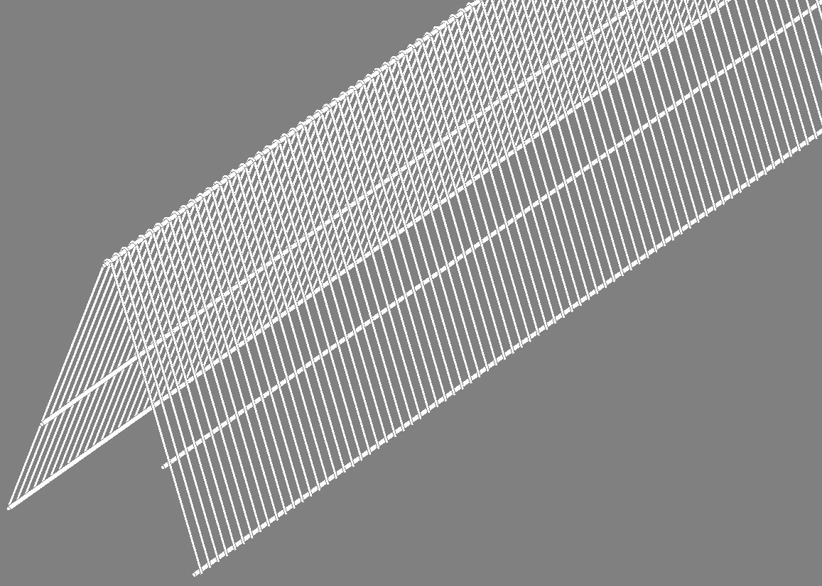 v-fence migration divider plastic coated wire 14 u0026quot  tall 12 foot long