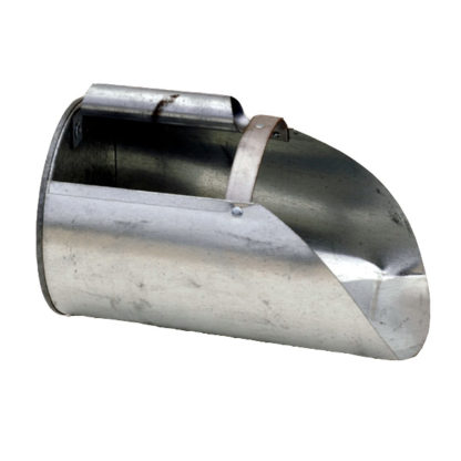 4 QT GALVANIZED FEED SCOOP {APPROX. 3.5 LBS OF FEED}