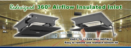 360 DEGREE INSULATED CEILING INLET GRAVITY<br>