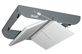 DOUBLE SIDED COUNTERWEIGHTED CEILING AIR INLET<br>