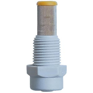 PLASTIC FOGGER NOZZLE WITH CYLINDER STRAINER 1.14GPH @ 100PSI GRAY