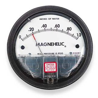 DWYER PHOTOHELIC  GAUGE 0-.5WC