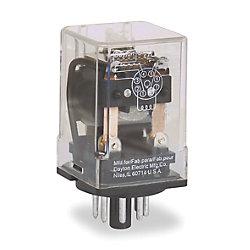RELAY DPDT 8 PIN OCTAL 240V 12 AMP