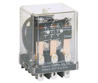 3SPDT 11-PIN PLUG IN RELAY 10A @277VAC/30VDC 120VAC CONTACT
