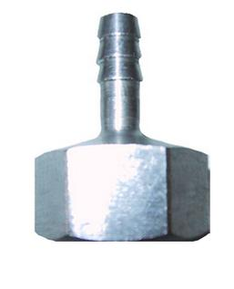 """1/4"""" STAINLESS HOSE BARB X 1/2"""" FPT 1 PIECE"""