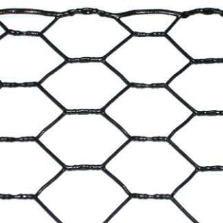 "48"" X 150 FOOT ROLL BLACK COATED WIRE WITH 1"" HEX"