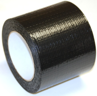 "BLACK TRYPLY TAPE 4"" X 165 FT"