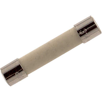 Fuse; Cylinder; Fast Acting; 10A; 3AB; Supplemental; .25x1.25In.; Ceramic; 250VAC