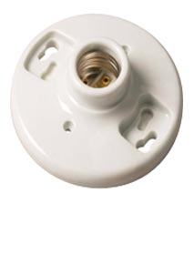 KEYLESS LIGHT FIXTURE PORCELAIN ZINC COATED SOCKET 4-TERMINAL