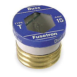 15 AMP SERIES T SCREW-IN FUSE TIME DELAY