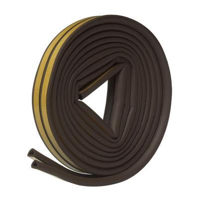 "RUBBER WEATHER-STRIP TAP 5/16"" X 1/4"" X 17 FT WITH SELF STICK TAPE"