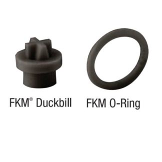 FKM CHECK VALVE DUCKBILL & O-RING 2-PACK<br>