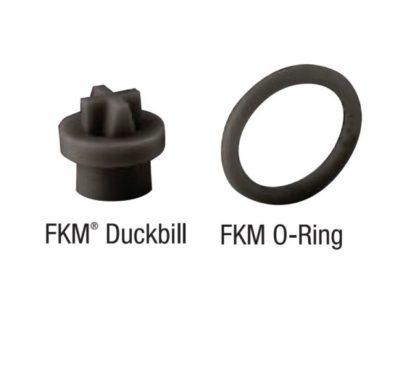 FKM CHECK VALVE DUCKBILL & O-RING 2-PACK<br>