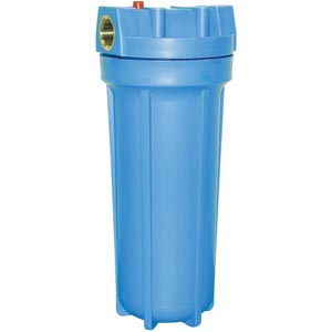 "FILTER HOUSING BLUE CANISTER NO SHUTOFF 3/4"" INLET/OUTLET"