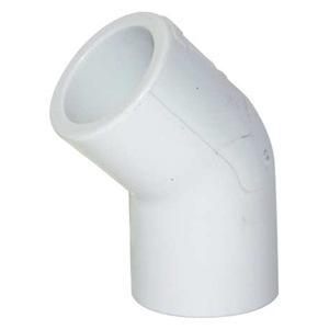"SCHEDULE 40 PVC ELBOW 1/2"" SLIP 45 DEGREE"