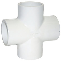"1-1/4"" SCHEDULE 40 PVC CROSS"