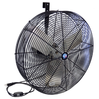 "24"" F5 LIVESTOCK CIRCULATION FAN BLACK COATED OSHA GUARDS 115/230V  WIRED W/ SWITCH BRACKET INCLUDED"