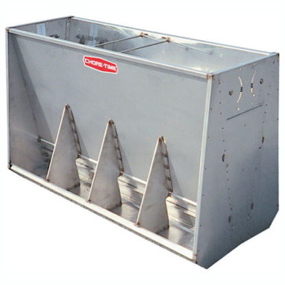 "STAINLESS HOG FEEDER WEAN-FINISH DOUBLE 4-HOLE 34"" X 56"""
