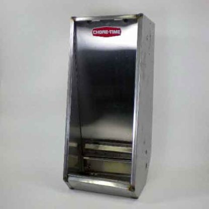 "STAINLESS HOG FEEDER WEAN-FINISH SINGLE 1-HOLE 14""  x 34"""
