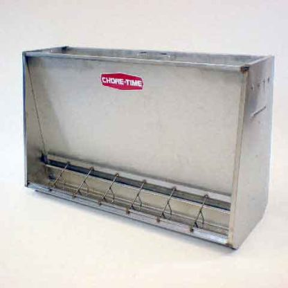 "STAINLESS HOG FEEDER NURSERY DOUBLE 7-HOLE 7"" X 31"" X 48"""