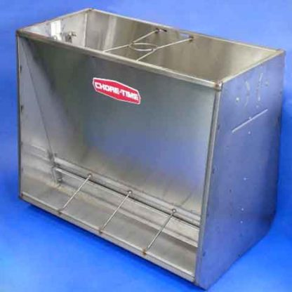 """STAINLESS FEEDER 4-HOLE DOUBLE SIDED 40"""" LONG"""