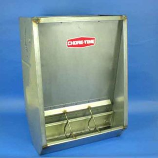 STAINLESS HOG FEEDER NURSERY SINGLE 7-HOLE 42""