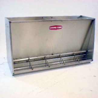 STAINLESS WEAN-FINISH HOG FEEDER DOUBLE 5-HOLE
