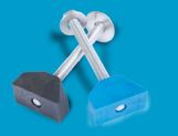 "SLOT LOCK  FENCE FASTENER WITH 3/8"" X 4"" STAINLESS HEX BOLT"