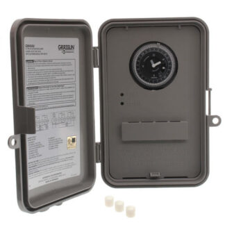 GM40AV SERIES 40 AMP 24-HOUR INDOOR/OUTDOOR WALL MOUNTED AUTOVOLTAGE GENERAL PURPOSE TIME CONTROL, GRAY