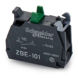 SINGLE CONTACT BLOCK, 22MM, 1NO, 6 A, 600V, SCREW TERMINAL, HARMONY XB4 SERIES