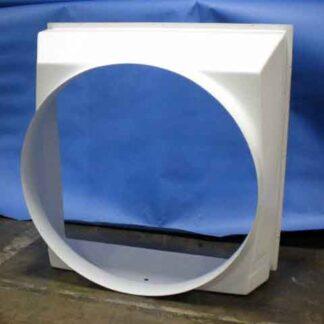 48in White TURBO® Fan Shroud